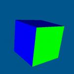 OpenGL绘制旋转立方体