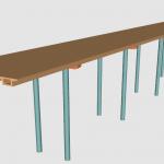 OpenGL绘制桥梁模型